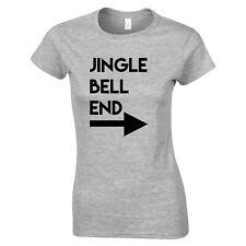 Rude Christmas Womens TShirt Jingle Bell End & Arrow Joke Adult Funny Xmas