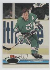 1991-92 Topps Stadium Club #102 Pat Verbeek Hartford Whalers Hockey Card