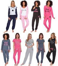 Womens Short / Long Sleeve 2 Piece Pyjamas Set Full Length Pjs Lounge Set Size