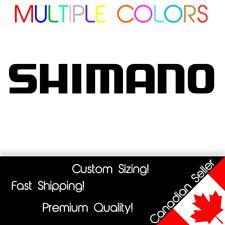 "Shimano Logo Decal Sticker Fishing Cycling Bicycle Reel Rod Stradic Vinyl 4-11"""