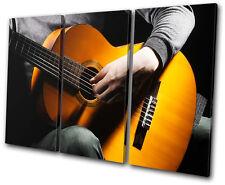 Musical Acoustic Guitar  TREBLE DOEK WALL ART foto afdrukken