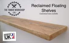 Wooden Shelving Rustic Solid Floating Shelf Shelves Mantel Handmade - Reclaimed