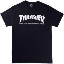 Thrasher SKATE MAG Black White Screenprint Logo Standard Fit S/S Men's T-Shirt