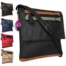 Cross Body Handbag Messenger Bag Long Across Shoulder Strap Pockets Ladies
