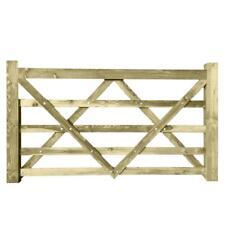 Timber Diamond Braced 5 Bar Field Farm Gate - Choose Size - Larch
