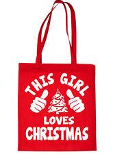 This Girl Loves Christmas Santa Gift Funny Shopping Tote Bag For Life
