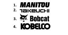 Sticker, aufkleber, decal - MANITOU TAKEUCHI BOBCAT KOBELCO 50 70 100 cm