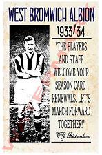 West Brom - Vintage Calcio Poster CARTOLINE - Scegli tra elenco