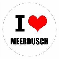 I love Meerbusch - csd0515 Autoaufkleber Sticker Aufkleber KFZ Flagge