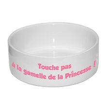 Grande gamelle pour Chien Touche Pas à la Gamelle de la Princesse avec Prénom