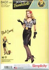 Simplicity 8431 DC Comics Bombshells Black Canary Costume Sewing Pattern UNCUT