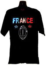Francia Francese Rugby Maglietta rhinestud Design qualsiasi dimensione S-XXXL