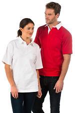 Premium tradizionale Uomo maniche corte, tinta unita RUGBY camicie, taglia XS A