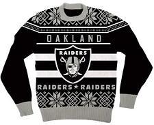 NFL Oakland Raiders Logo Adult Black Football Ugly Christmas Sweater