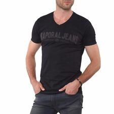 Tee shirt KAPORAL Homme manches courtes MOBO Noir, Taille S M L XL XXL
