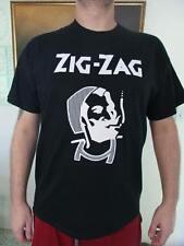 Zig Zag rolling papers smoking man 420 MARIJUANA CHRONIC T-SHIRT WEED