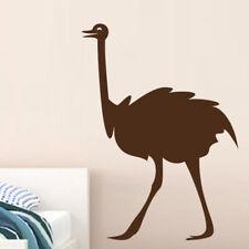 Sticker Décoration Vinyle Animal Autruche  (10x7 cm à 40x29 cm)