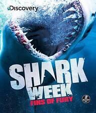Shark Week: Fins of Fury (Blu-ray Disc, 2013, 2-Disc Set) New
