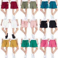Malucas Damen High Waist Business Shorts Bermuda Kurze Hose Sommerhose Pants
