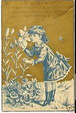 VICTORIAN TRADE CARD Dewey Furniture Rochester NY GIRL