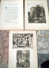 1915 CASTELLO DI OVIGLIO. FASCICOLO 'VILLE E CASTELLI' DI VITTORIO CICALA
