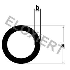 Alu Rundrohr ELOXIERT 1 Meter E6/EV1 Aluprofil Aluminium Rohr