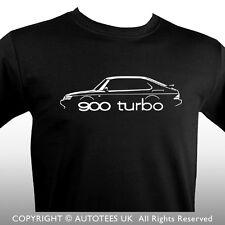 SAAB 900 TURBO CLASSIC CAR T-SHIRT - AUTOTEES
