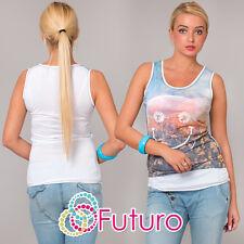 Mujer Camiseta Sonrisa Estampado Casual 100% Algodón Túnica de tamaños 8A 12