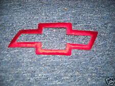 CHEVROLET BOW TIE LOGO CORVETTE CAMARO 7 INCH PATCH RED