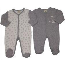 2PC Recién Nacido Bebé Bebés Niñas Unisex Ropa Gris Blanco Pijama Body