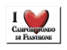 CALAMITA MARCHE FRIDGE MAGNETE SOUVENIR I LOVE CAMPOROTONDO DI FIASTRONE (MC)--