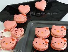 Corazón / Kitty de doble cara de silicona para hornear macarones Mat / macaroons Corazones Bandeja Para Hornear