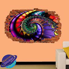 La abstracción colorido horizonte Pared Adhesivo Decoración Habitación 3D se estrelló Calcomanía Mural YI0