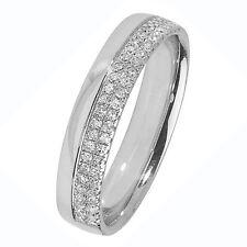 Premium Anello Nuziale Con Diamante - 4mm Largo - 0.20ctw - 18k Oro - Misura J-Q