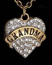 Rhinestone jewellery for your grandma Family Gifts Crystal Love Heart Pendant