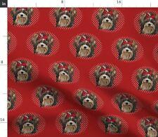 Biewer Dog Pet Friend Puppy An Last Popular Fabric Printed by Spoonflower Bty
