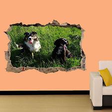 Dos perros de caza en verde campo Pegatina Decoración De Habitación Calcomanía Mural una clase