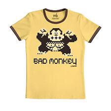 Bad Monkey T-Shirt - Böser Affe - Comic Shirt - gelb - Original TRAKTOR®