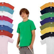 NEU - B&C Exact 190 Kids - Kinder Kurzarm T-Shirt - 15 Farben - 86 -164