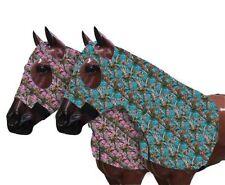 HORSE MANE TAMER SLEAZY LYCRA ZIPPERED HOOD BRAID & SHOULDER GUARD ALL SIZES CAM