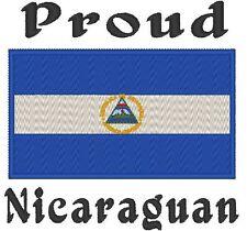 Proud Nicaraguan Nicaragua Flag Baby Bodysuit Embroidered