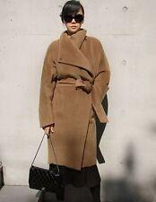 New Full Lengh Slim Wool Parka Coat Womens Lapel Thicken Wrap Greatcoat Overcoat