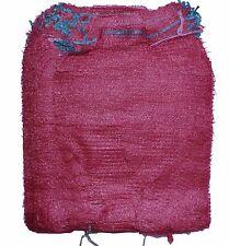 Net Sacks Raschel Bags with Drawstring Mesh Vegetables Logs Kindling Wood Maroon