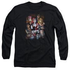 Batman Bad Girls Mens Long Sleeve Shirt Black