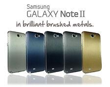Metallo spazzolato pelle per Samsung Galaxy Note 2 Wrap COVER ADESIVO PROTECTOR CASE