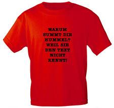 (09322) T-SHIRT S M L XL XXL Fun-Shirts unisex  • WARUM SUMMT DIE HUMMEL •