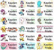 Medium Pokemon Personalised Name Labels, Sticker, 30x13mm, Waterproof