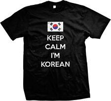 Keep Calm Im Korean Flag Hanguk Hanja Choson Republic of Korea Mens T-shirt