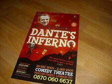 DANTE's INFERNO  by Arthur SMITH 2004  COMEDY Theatre Original Poster