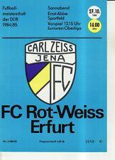 OL 84/85 FC Carl Zeiss Jena - FC Rot-Weiß Erfurt